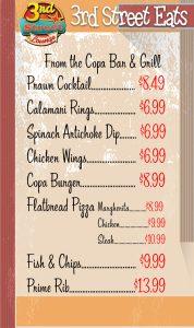 3rd Street Lounge Menu Ribs Fish & Chips