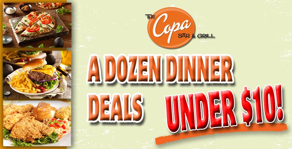 A DOZEN DINNER DEALS UNDER $10!