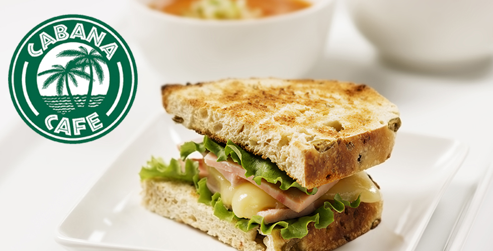 Cabana Cafe Grilled Ham & Cheese and Soup Special