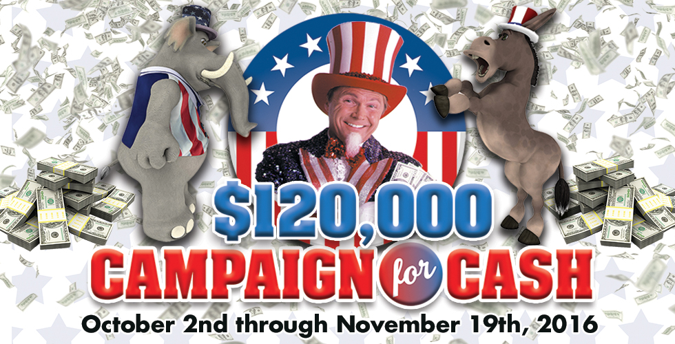 Sands $120,000 Campaign for Cash