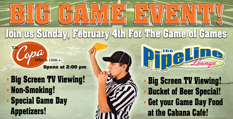 big game event bars in reno