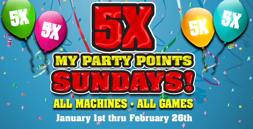 5X MY PARTY POINTS SUNDAY!
