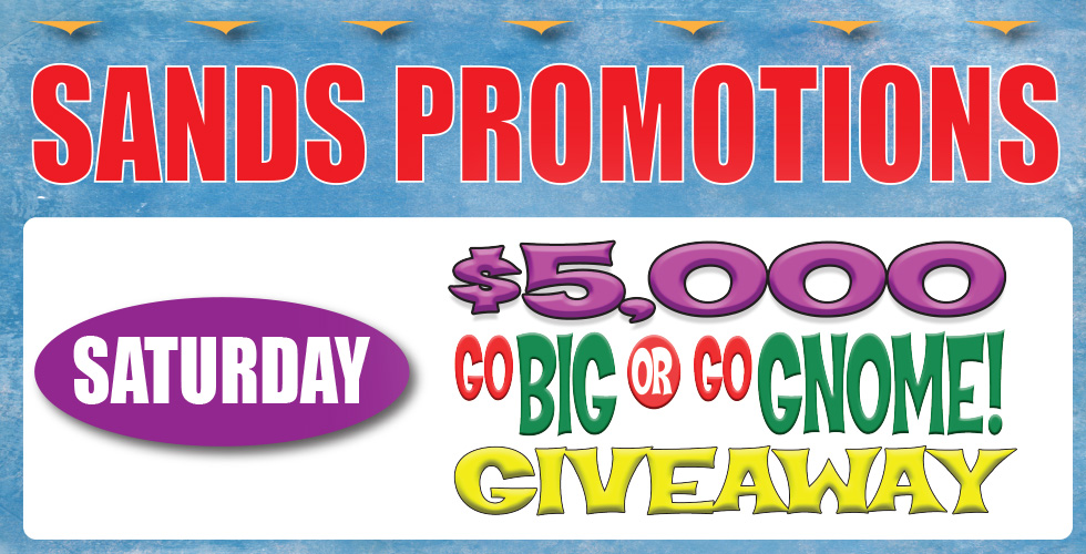 sands casino promotions giveaway