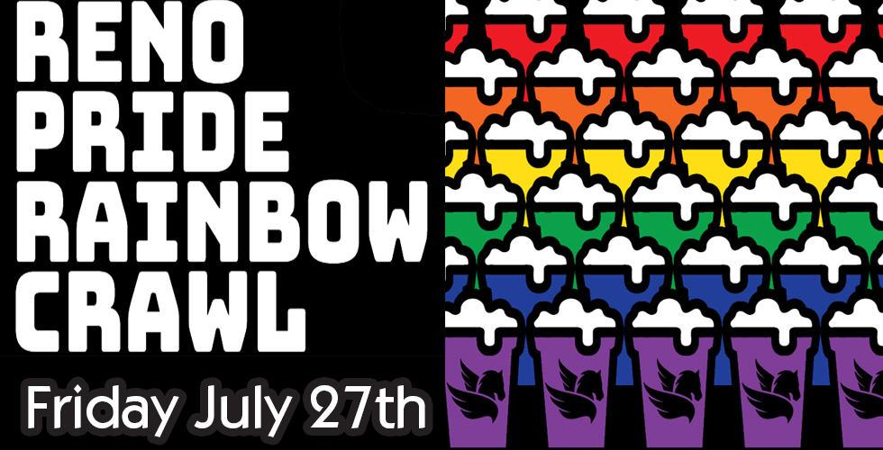 Reno Pride Rainbow Crawl Special Rate with 2 Crawl Cups