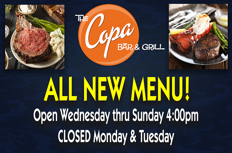 copa bar grill all new menu