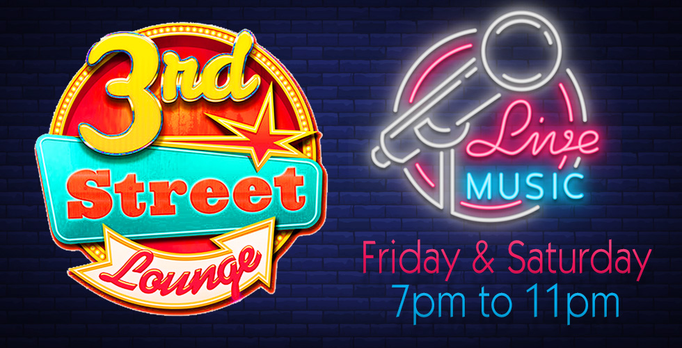 Live Music at 3rd Street Lounge Every Friday and Saturday
