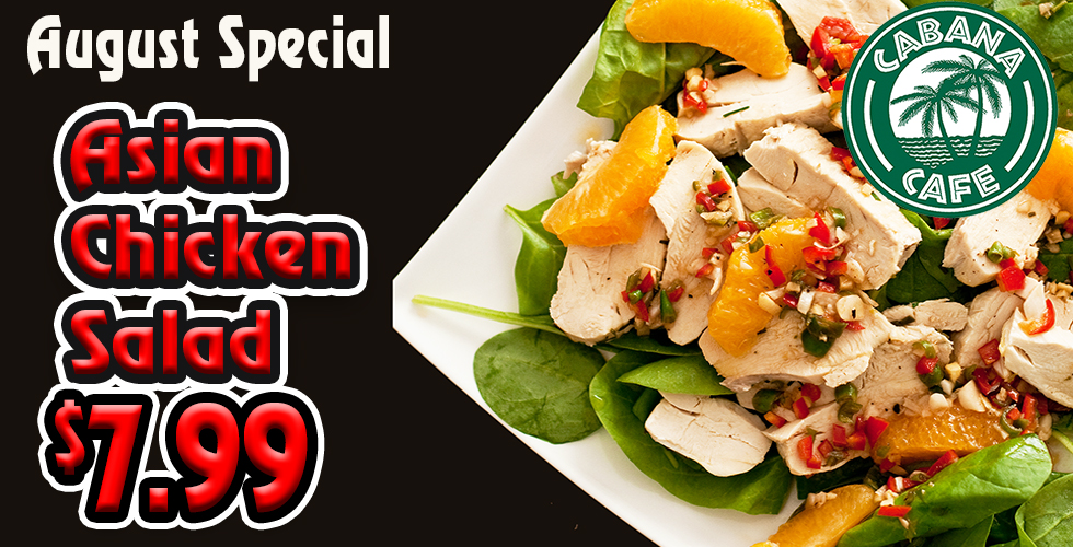 Cabana Asian Chicken Salad Special- only $7.99
