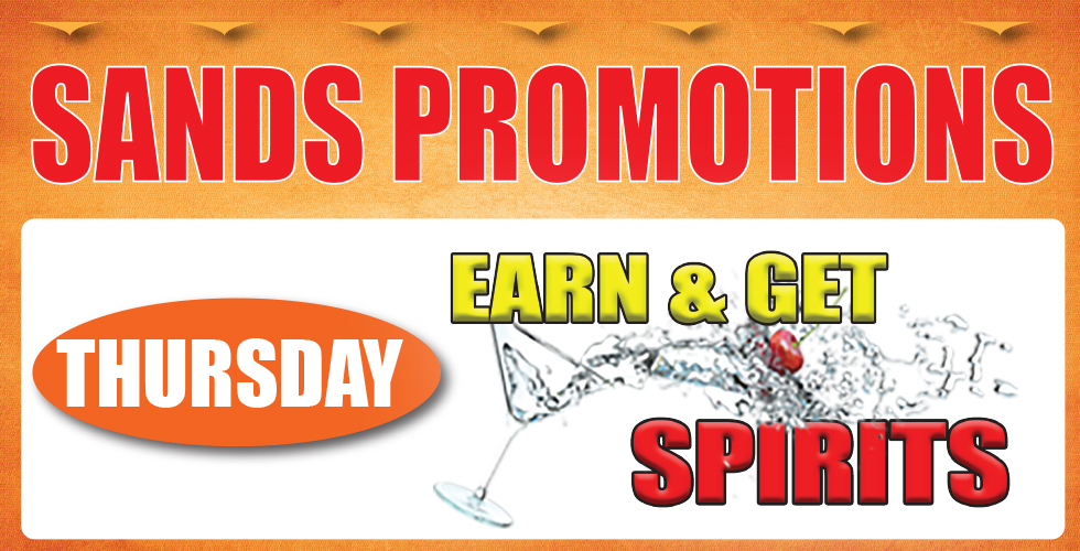 Thursday Earn and Get Spirits Day