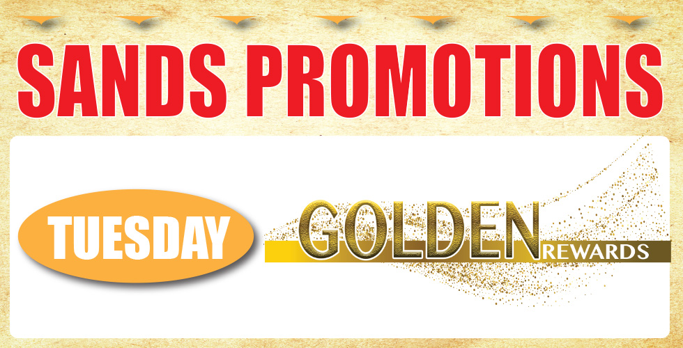 Tuesday is Golden Rewards Day
