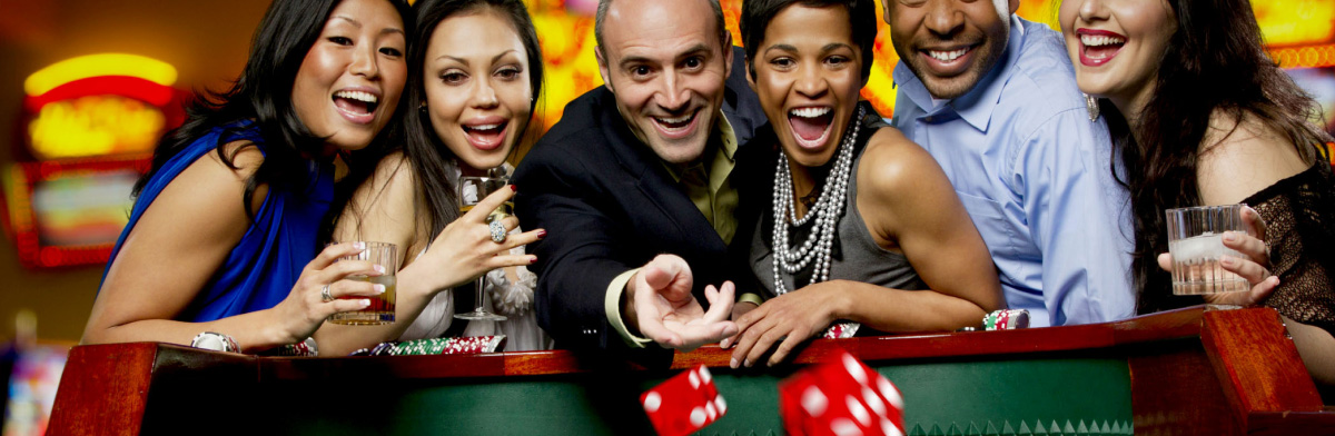 casino guests playing craps and having a good time