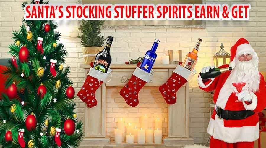 Santa's Stocking Stuffers Spirits Earn & Get