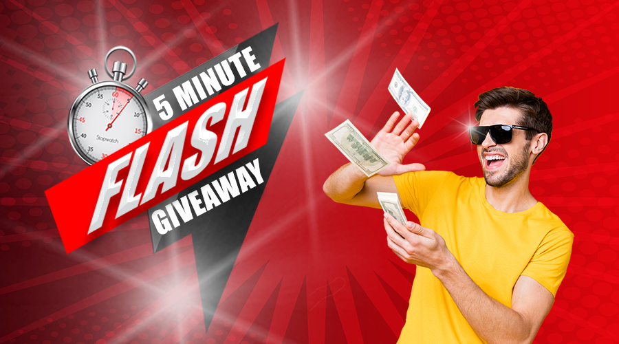 5 Minute Flash Giveaway